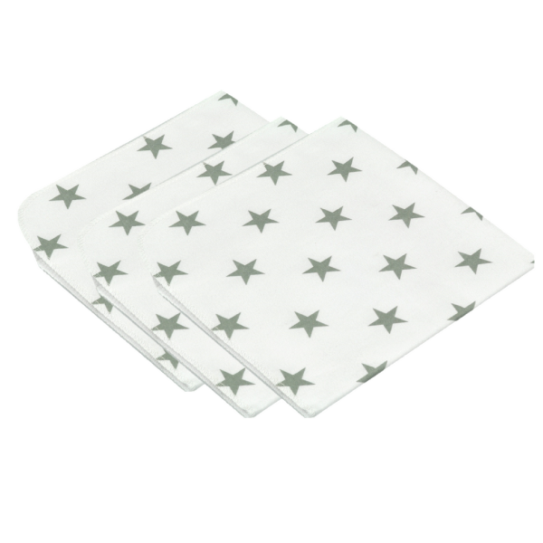 Molton-Tücher STARS im 3er Set