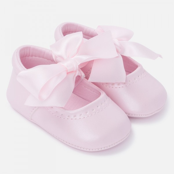 festliche babyschuhe rosa Taufe mayoral  9810