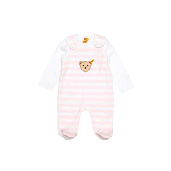 Baby Strampler mit Shirt rosa-weiß von Steiff  2855