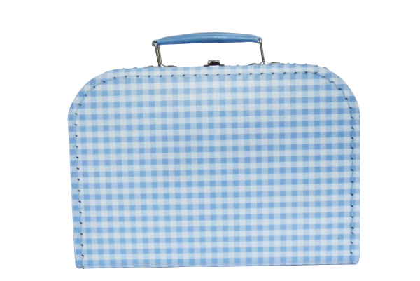 Pappkoffer für Kinder hellblau 25 cm