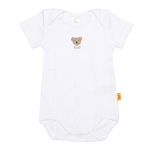 Steiff ♥ Unisex Body kurzarm ♥ Bright White