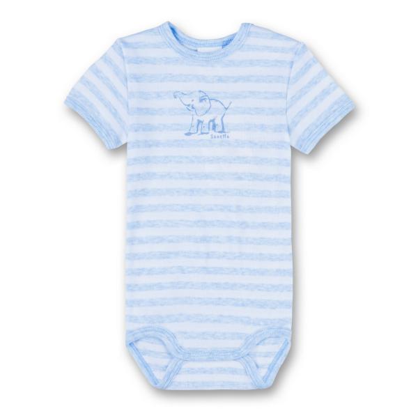 Baby-Kurzarmbody Sanetta 322452 ELEFANT