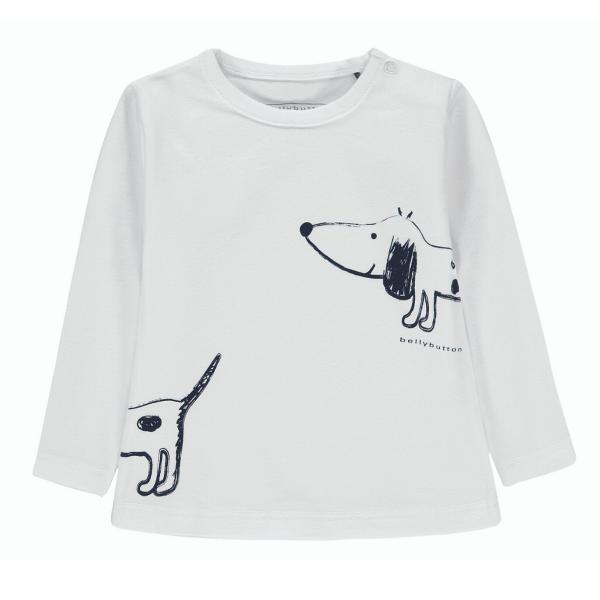 Bellybutton ♥ Mädchen T-Shirt langarm Lots of Dots ♥ weiß