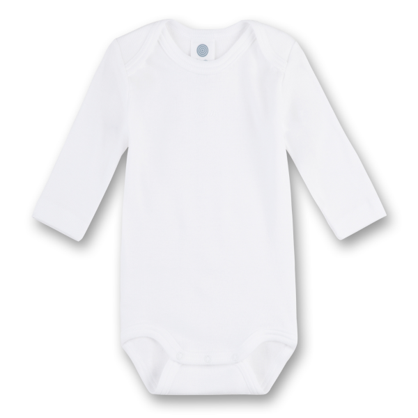 Sanetta ♥ Unisex Body langarm ♥ weiß (308500)
