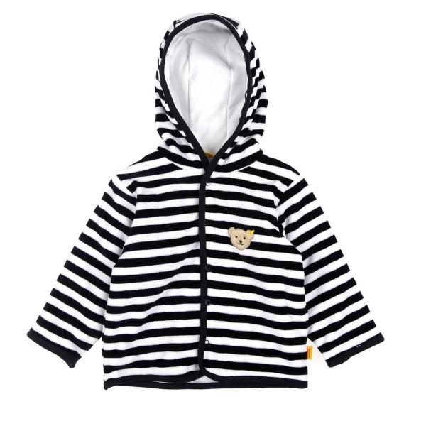 Steiff Nicki-Baby Jacke Unisex, grau-weiß (3032), 2857