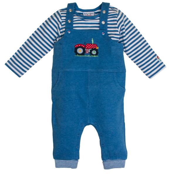 Set Baby-Latzhose mit Shirt TRAKTOR