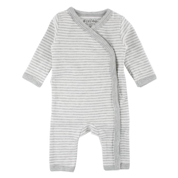 Fixoni ♥ Baby Frühchen Overall Ringel LITTLE BEE, grau, 32720