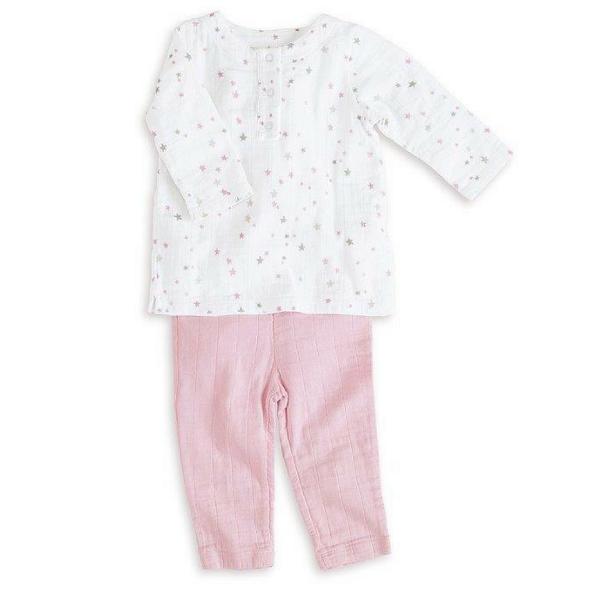 aden + anais ♥ Shirt mit Hose in pink
