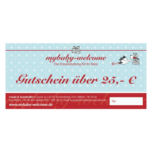 Süßer Gutschein zur Geburt 25 €