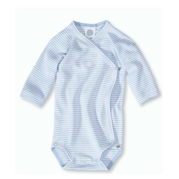 Wickelbody Langarm BLUE STRIPE von Sanetta 310121