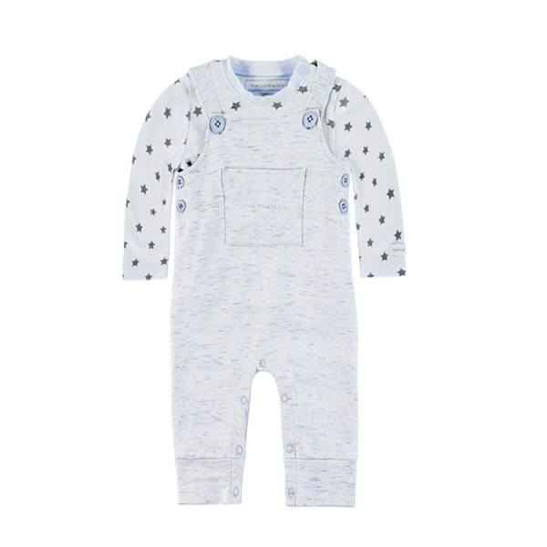 Baby- Latzhose mit Shirt EMIL von Bellybutton in Organic Cotton