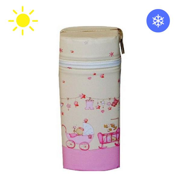 Thermobox für Babyflaschen rosa-vanille