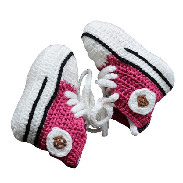 Baobab ♥ Baby-Häkelschuhe ♥ pink