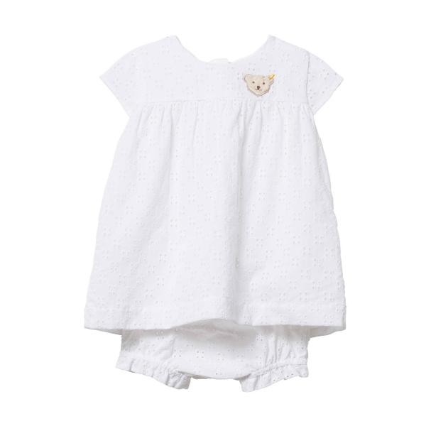 Steiff ♥ Mädchen Kleid, Bright White, L 001914404