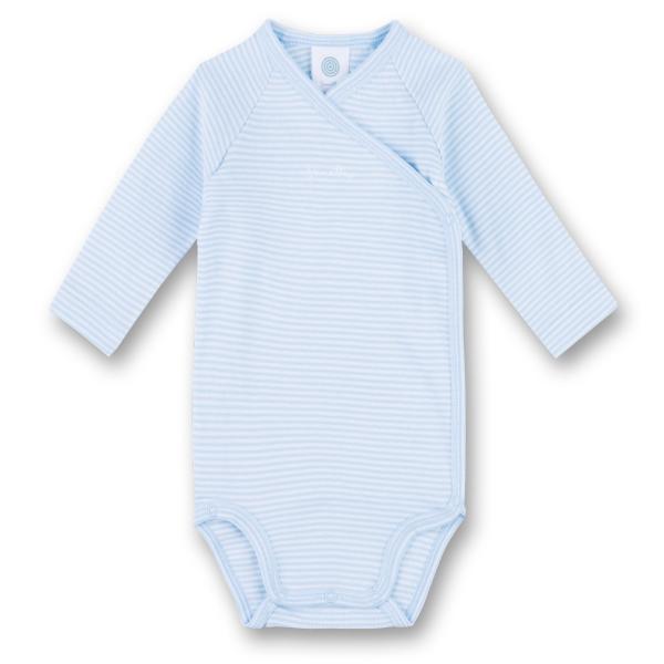 Sanetta ♥ Jungen Wickelbody langarm ♥ blau (322459)