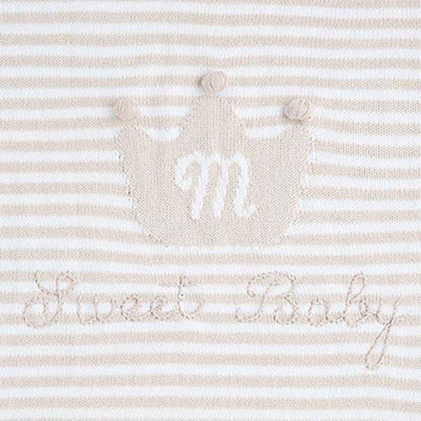 Baby-Strickdecke creme-weiß von Mayoral