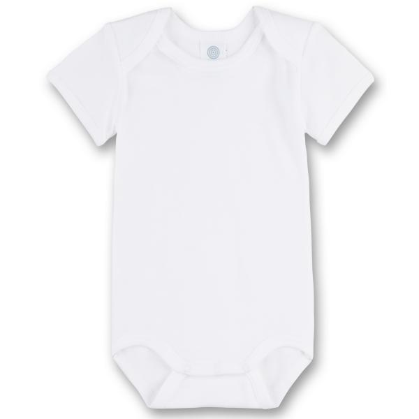 Sanetta ♥ Unisex Body halbarm ♥ weiß (308200)