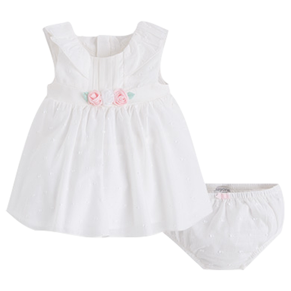 Festliches Babykleid in creme zur Taufe Sommer  Mayoral 1822
