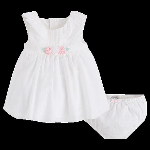 Festliches Babykleid in creme zur Taufe Sommer  Mayoral 1822