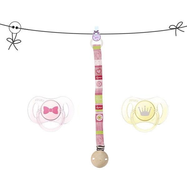 Clip-Schnullerkette mit Neugeborenen Schnuller von AVENT