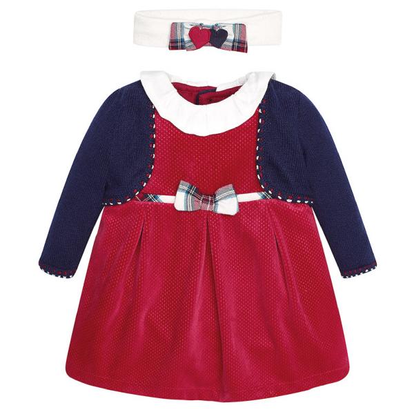 "Mayoral ♥ Festliches Baby Kleid ""Olivia"" ♥ langarm 2843"