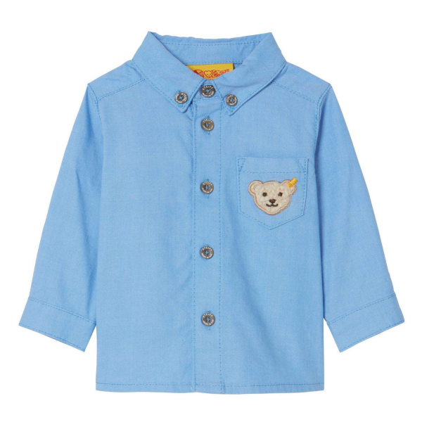 Steiff ♥ Baby Jungen Hemd 1/1 Arm ♥ Classic Blue, 6843613