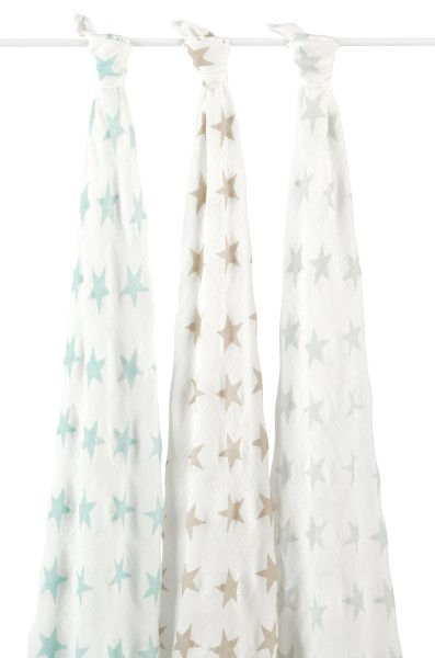 aden + anais ♥ 3er-Set silky soft swaddles ♥ Pucktücher ♥ milky way