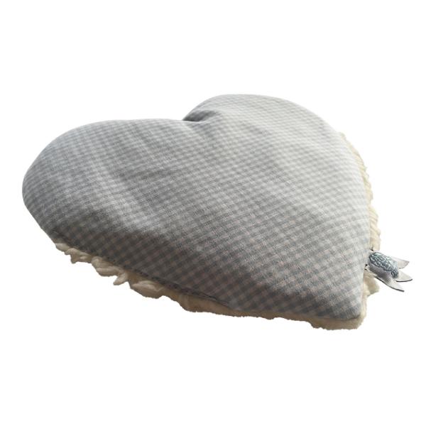 Dinkelkissen für Babys Bio BLUE HEART