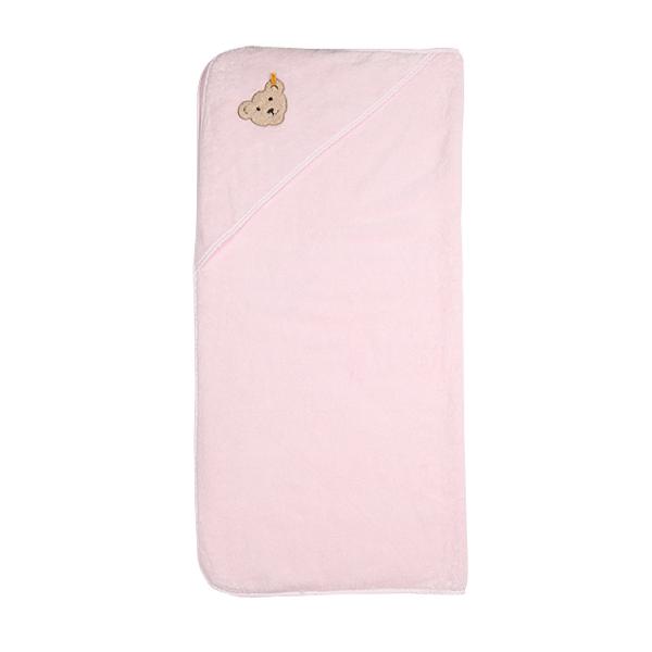 Kapuzenhandtuch rosa  PINK BEAR von Steiff