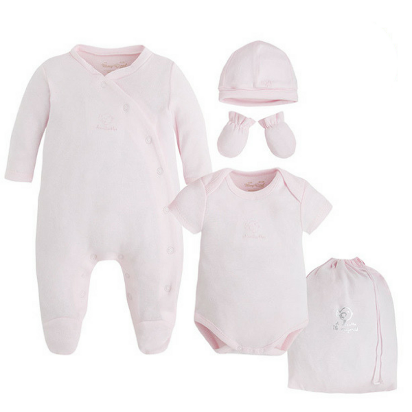 "Mayoral ♥ 5teiliges Set Baby Strampler ""GOOD NIGHT"", pink"