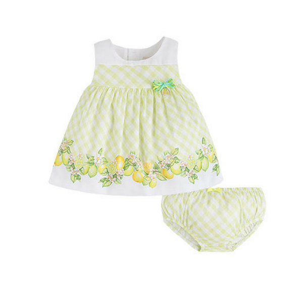 Baby-Sommerkleid Limette von Mayoral