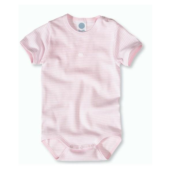 Body sanetta rosa weiß -Bio-Baumwolle 320449