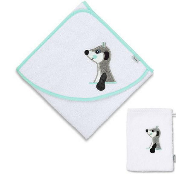 Kapuzenhandtuch ELVIS mit Waschhandschuh