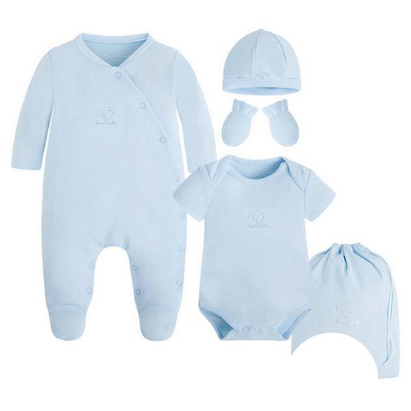 Baby-Strampler Set 5-teilig GOOD NIGHT BLUE von Mayoral