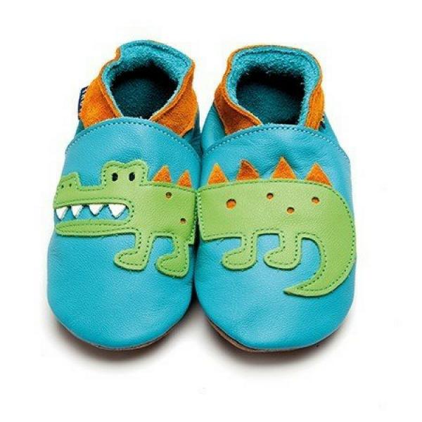 Inch Blue ♥ Baby-Krabbelschuhe Crocodile, 2719