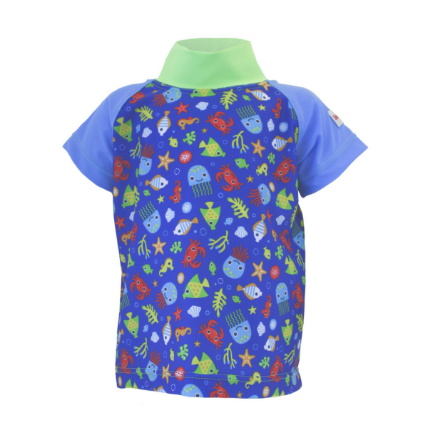 "ImseVimse Baby UV-Shirt ""Blue Beach"""