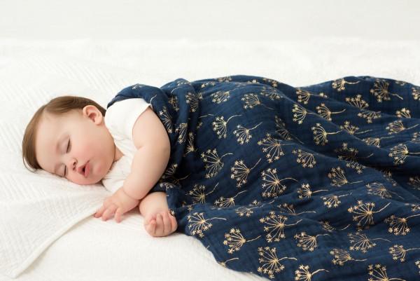 aden + anais ♥ classic dream blanket Decke ♥ metallic gold deco dandelion, 6133G