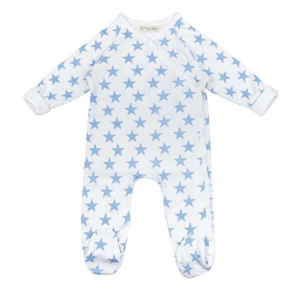 Schlafoverall mit Mütze BIG STARS  von Sence Organic für Jungen