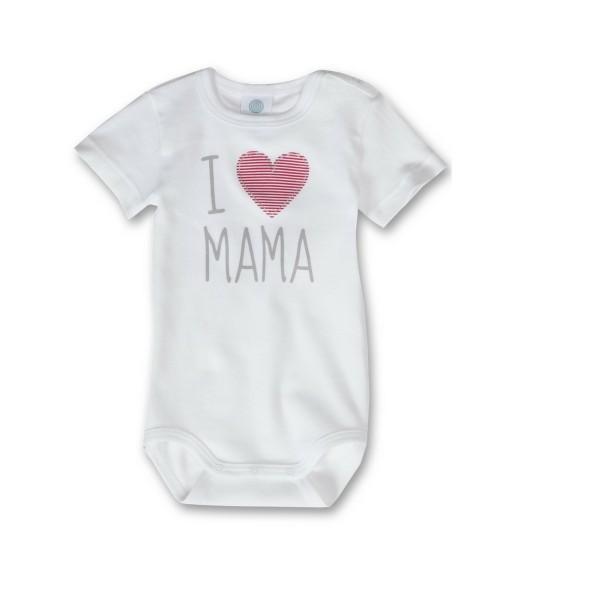 Baby Body I love Mama mit Herz von Sanetta