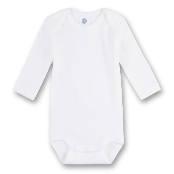 Sanetta ♥ Unisex Body langarm ♥ weiß (320700)