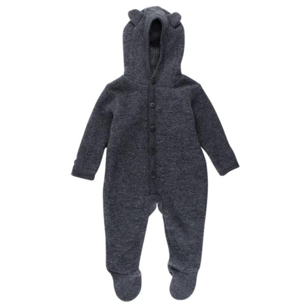 Fixoni ♥ Baby Filz-Overall (Wolle) mit Ohren ♥ grau, 33303