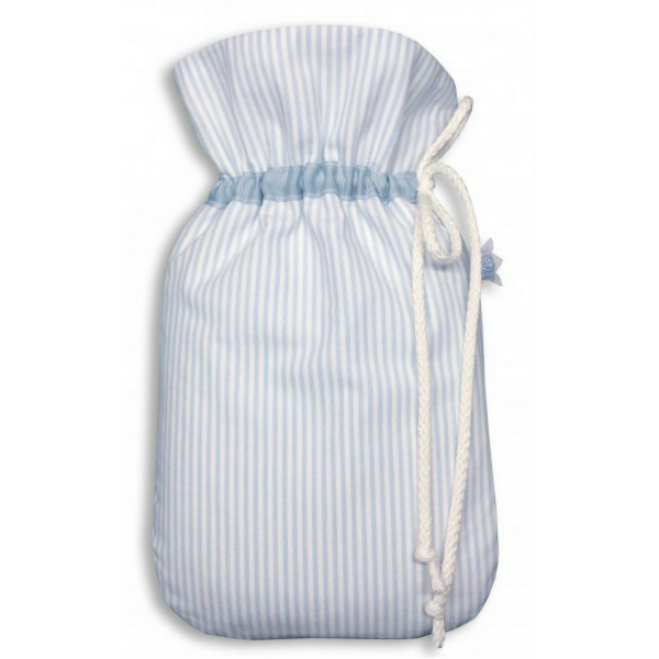 Kleine Baby-Wärmflasche hellblau Bio