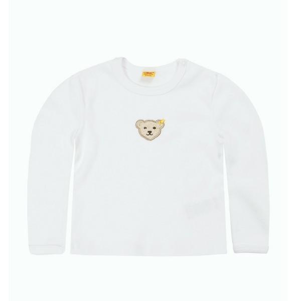 Baby-Shirt Steiff  in weiß 6671 Vorderseite