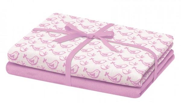 Mulltücher - Spucktücher Bellybutton pink Vögelchen