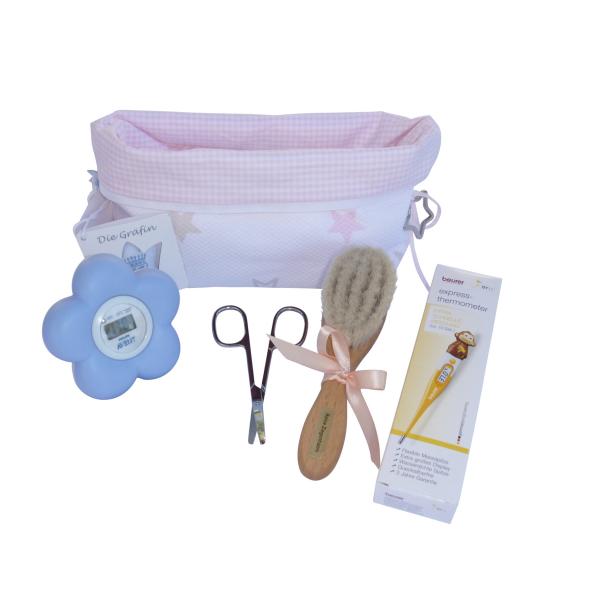 Exklusives Baby-Pflege-Set ,ot tasche und AVENT Thermometer