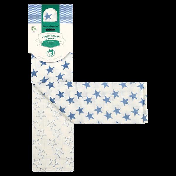Organic-Baumwollwindel BLUE STARS von Sense Organics