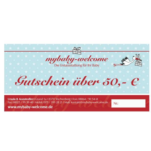 Gutschein zur Geburt 50 €